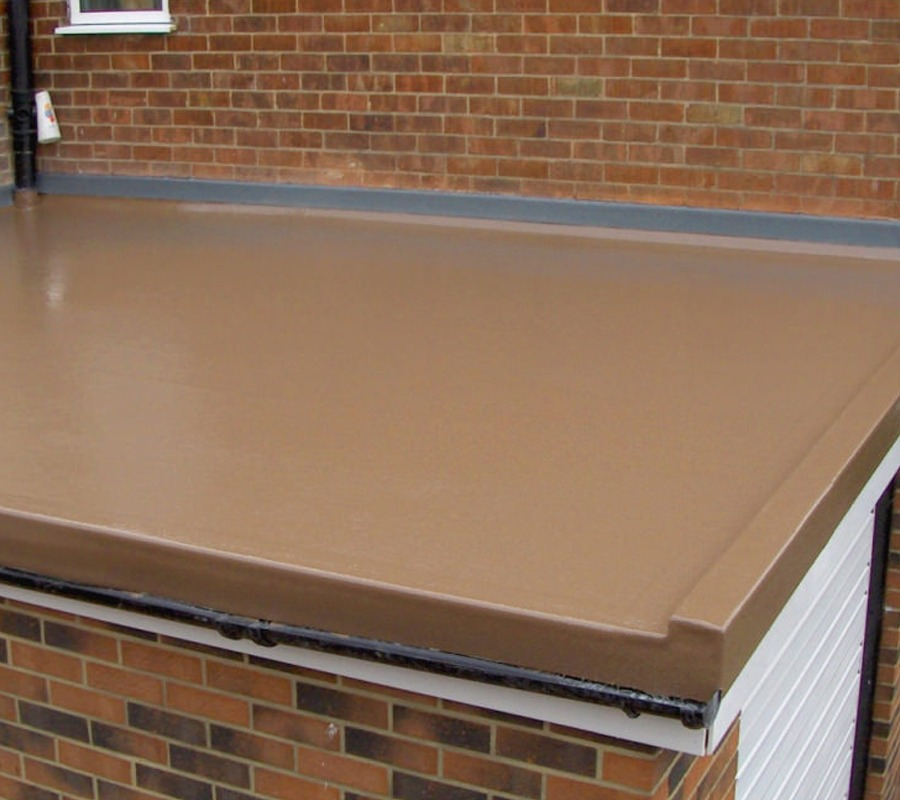 Brown Flat Roof